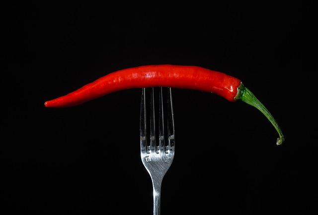 paprička na vidličce