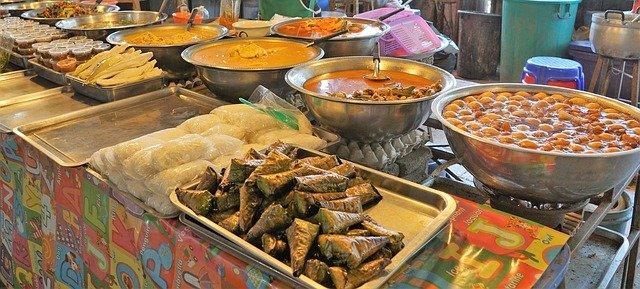 potraviny na trhu