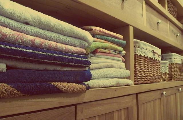 vyskládané ručníky